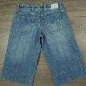 American Eagle Wide Leg Gaucho Sz 6 Jeans